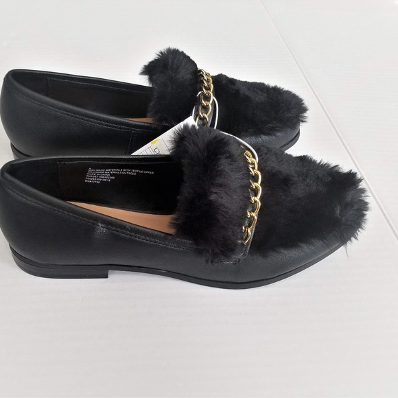 Sal Faux Leather Fur Closed Loafers
